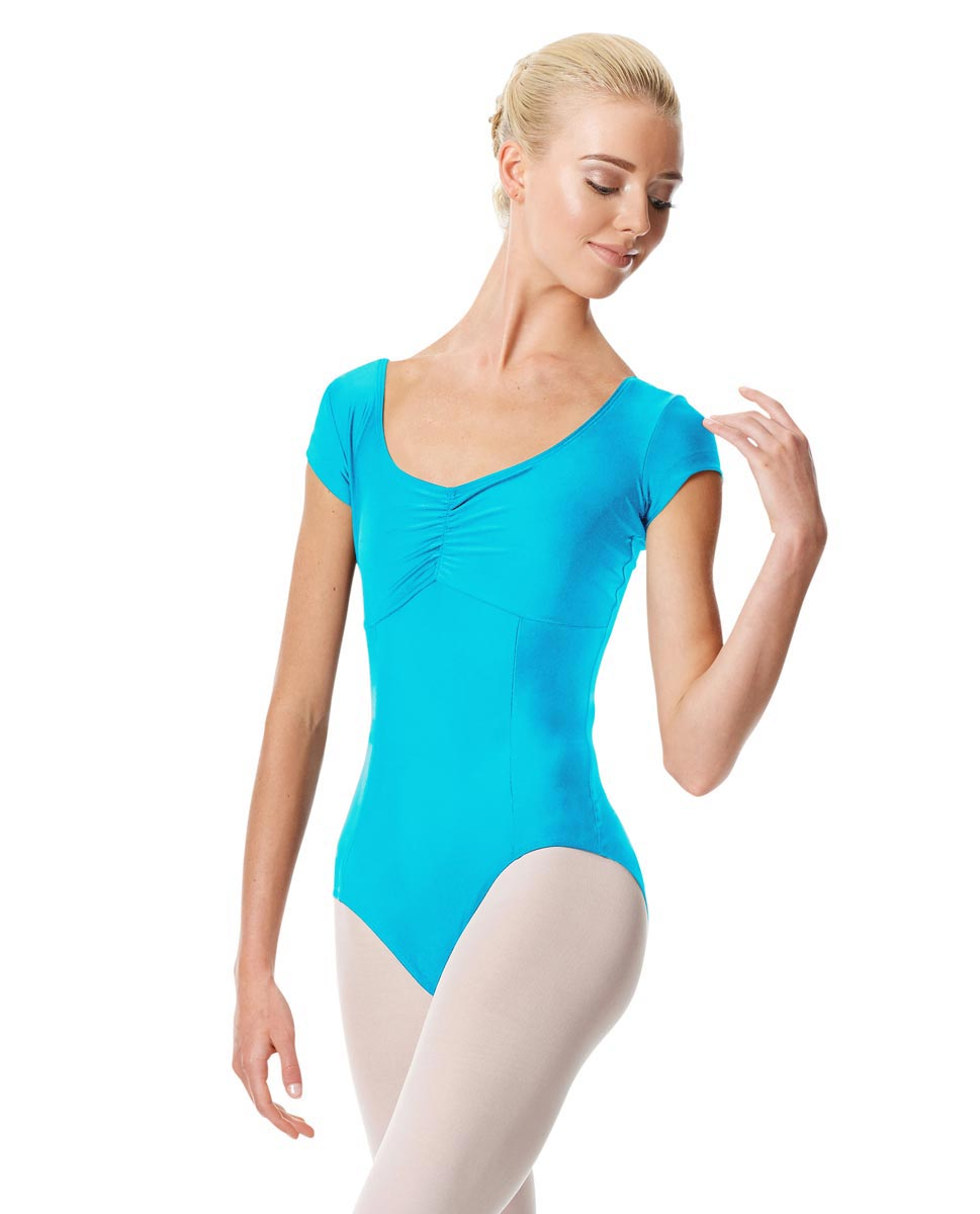 Pinch Front Cap Sleeve Dance Leotard Dinara TUR