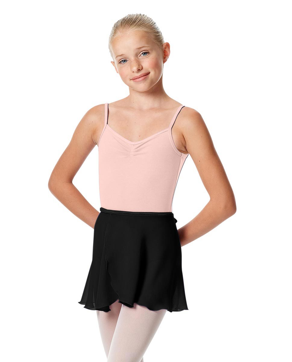 Girls Short Wrap Ballet Skirt Viola BLK