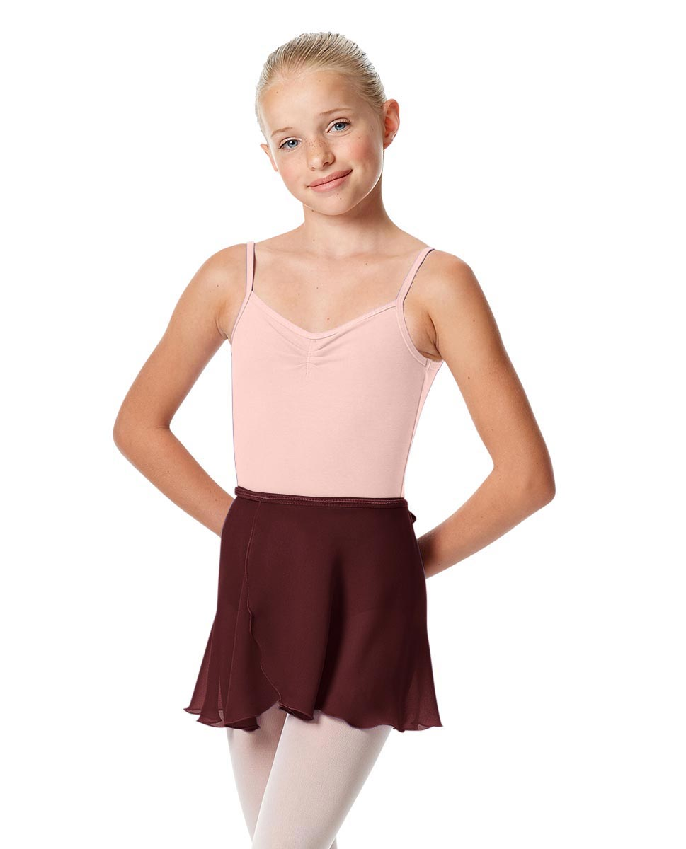 Girls Short Wrap Ballet Skirt Viola BUR