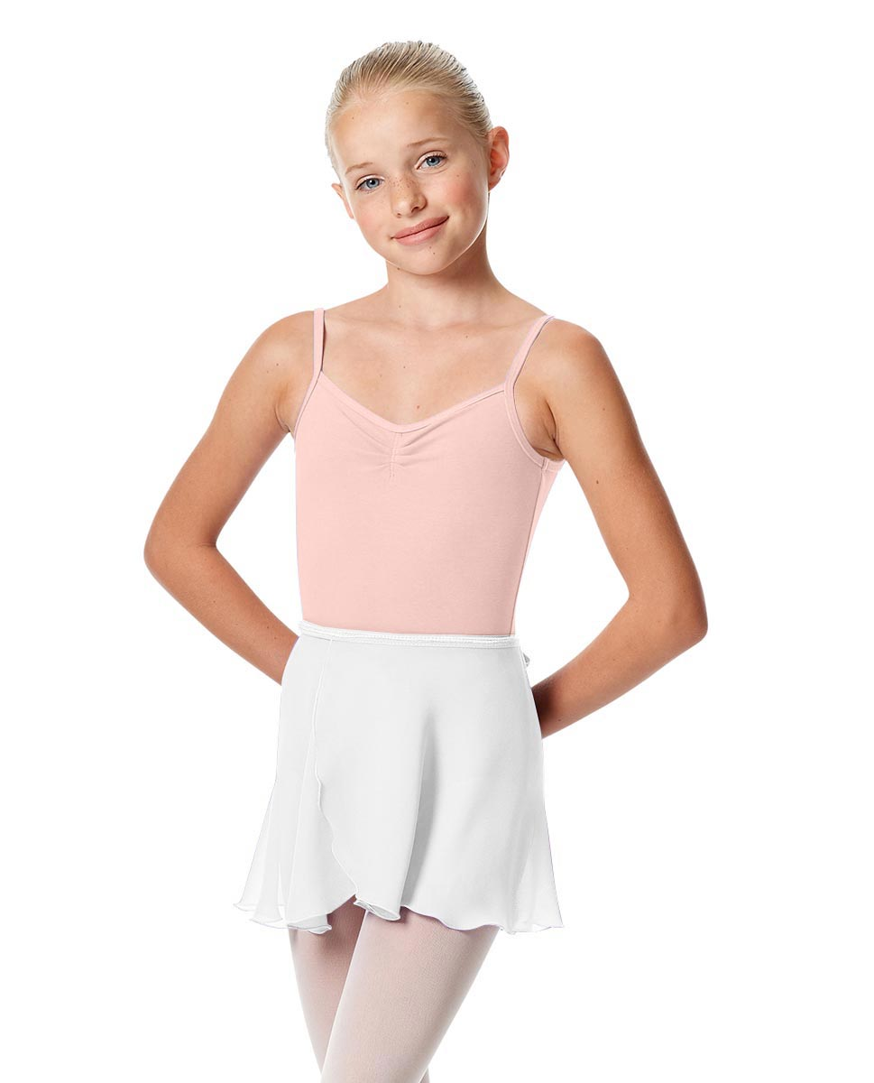 Girls Short Wrap Ballet Skirt Viola WHI