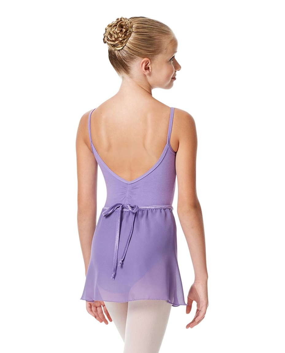 Girls Short Wrap Ballet Skirt Viola back-girls-short-wrap-ballet-skirt-viola