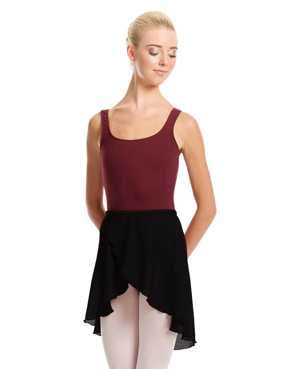 Womens Midi Wrap Ballet Skirt Felice BLK