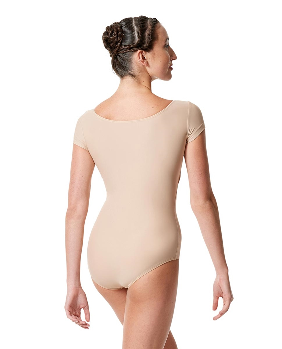 Womens Short Sleeve Matte Dance Leotard Inga back-womens-short-sleeve-matte-dance-leotard-inga