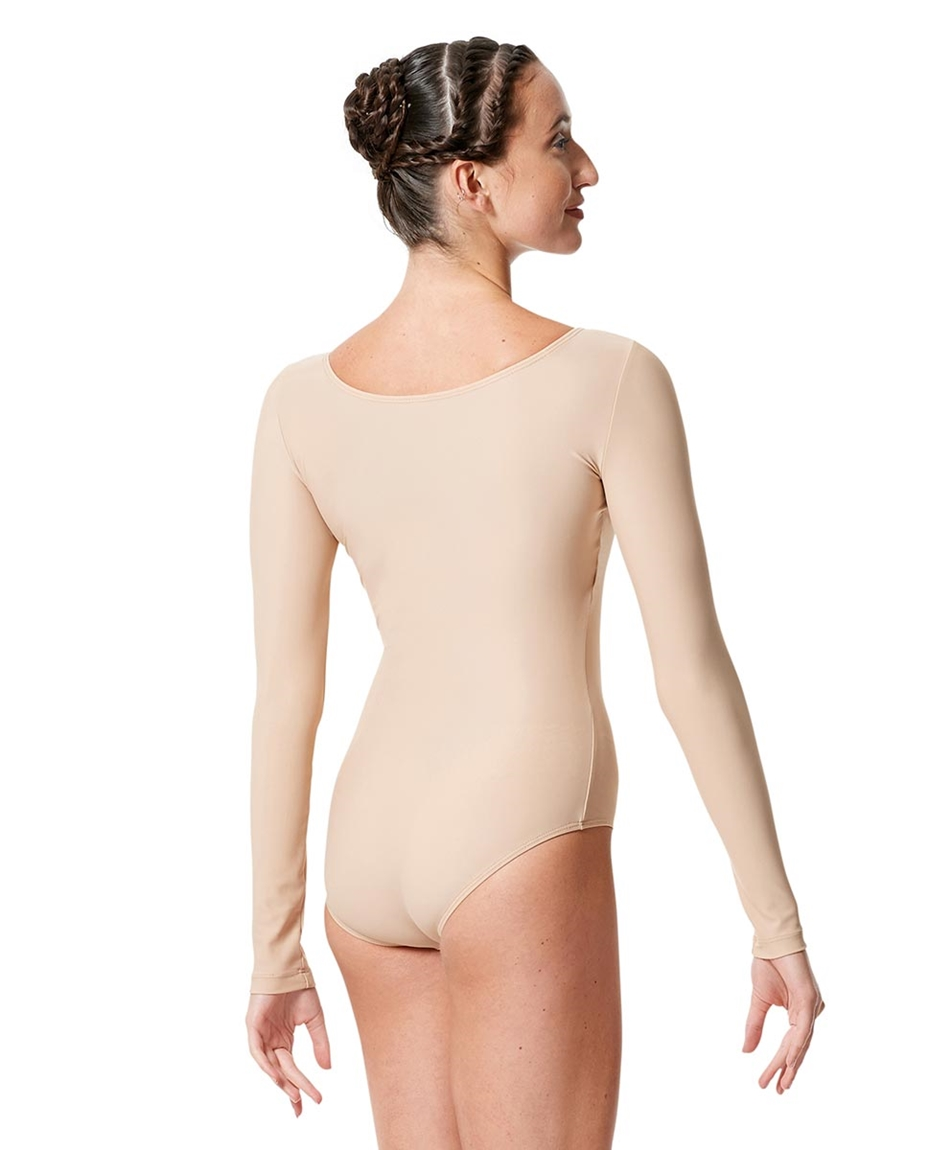 Womens Matte Long Sleeve Dance Leotard Sylvie back-womens-matte-long-sleeve-dance-leotard-sylvie