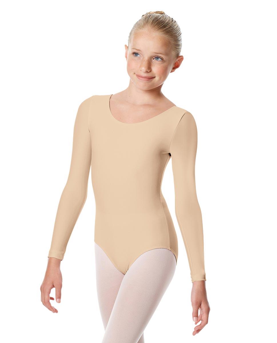 Child Matte Long Sleeve Dance Leotard Sylvie NUD