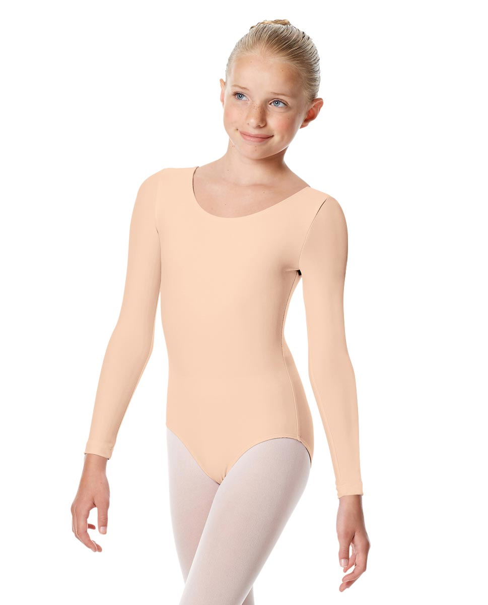 Child Matte Long Sleeve Dance Leotard Sylvie PEAC