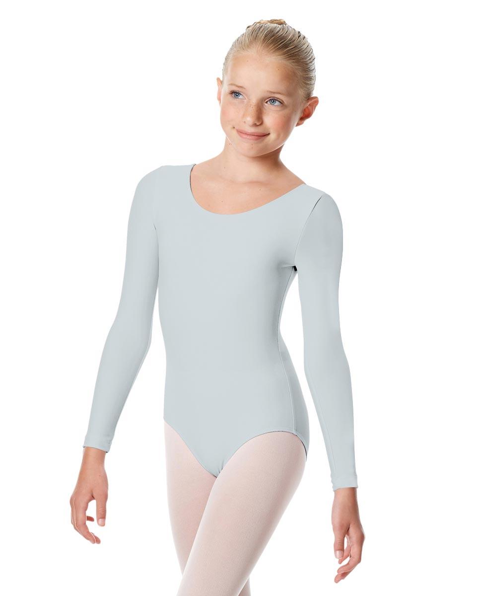 Child Matte Long Sleeve Dance Leotard Sylvie SKY