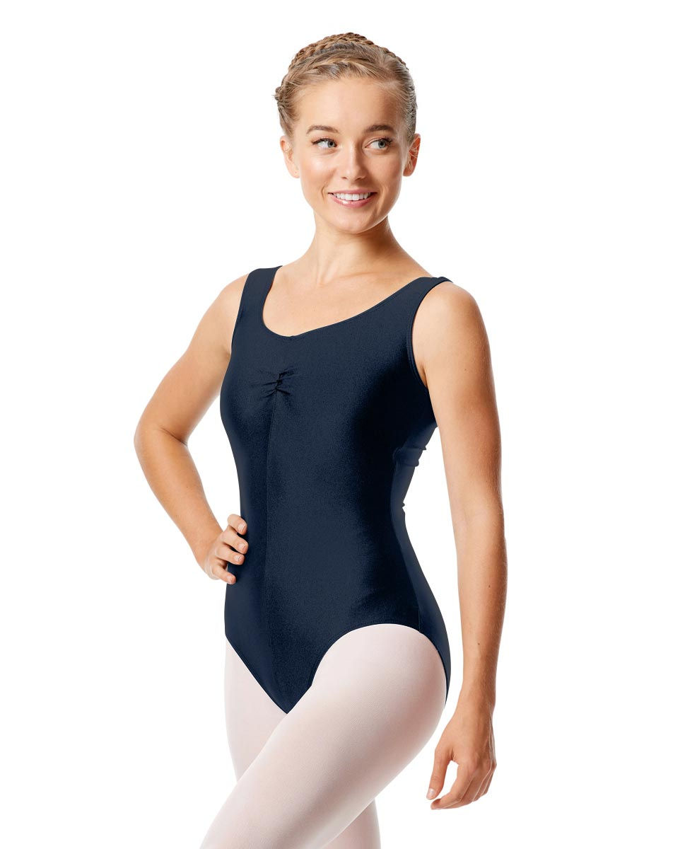Womens Shiny Pinch Front Tank Ballet Leotard Eleonore NAY