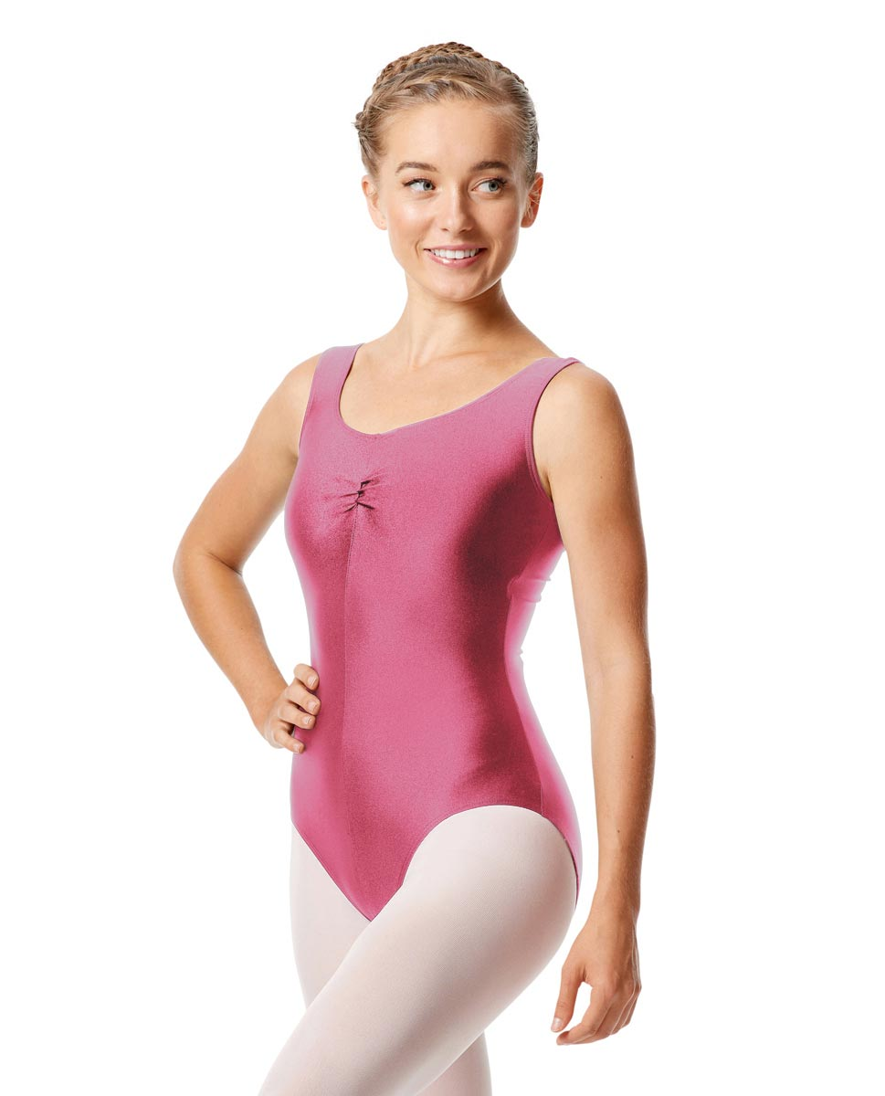 Womens Shiny Pinch Front Tank Ballet Leotard Eleonore ROS