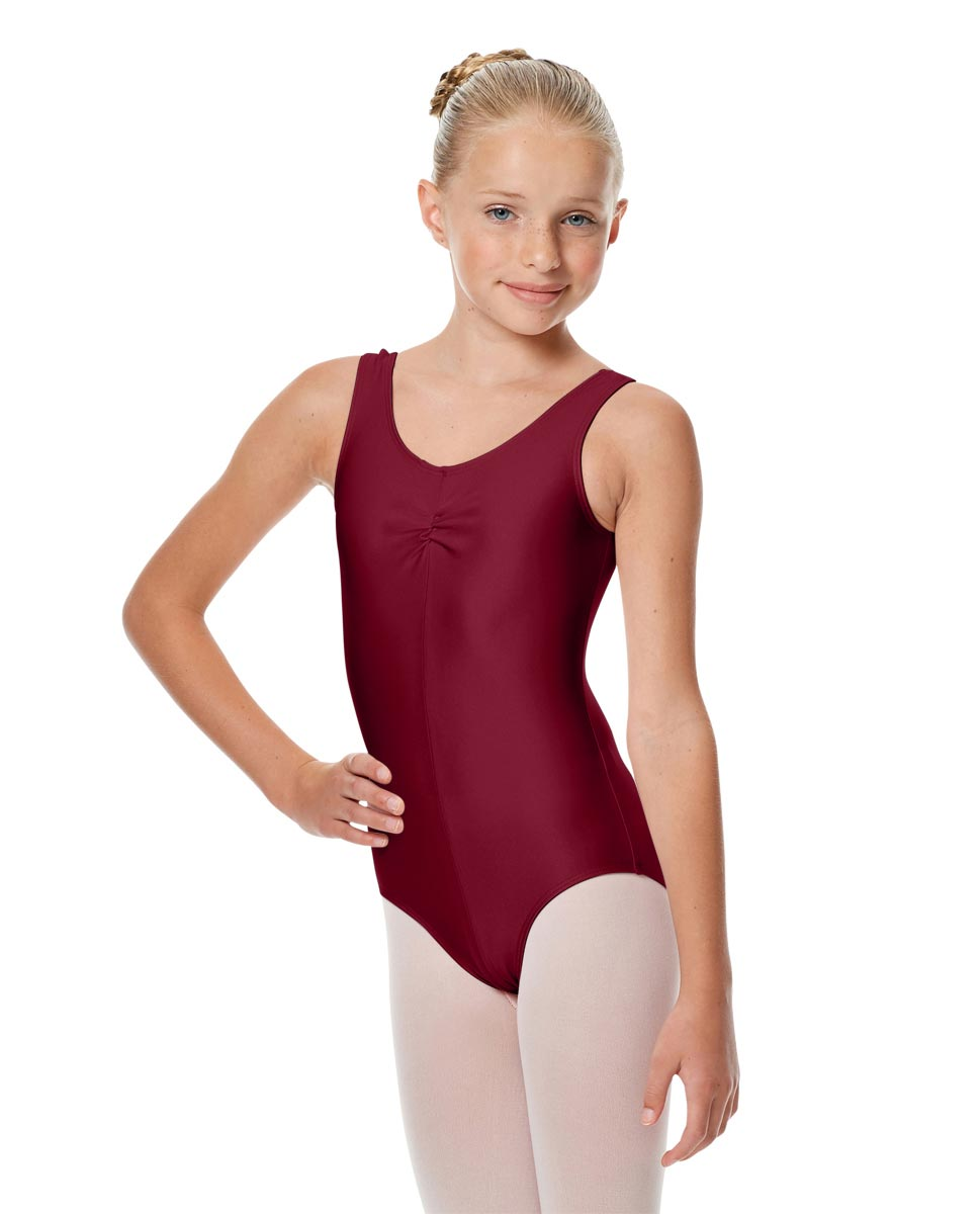 Girls Shiny Pinch Front Ballet Leotard Eleonore BUR