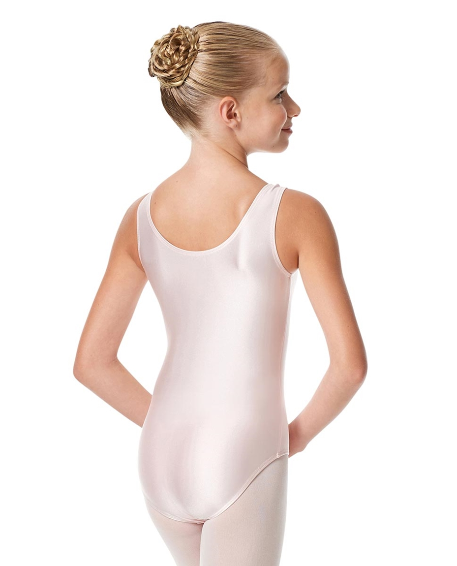 Girls Shiny Pinch Front Ballet Leotard Eleonore back-girls-shiny-pinch-front-tank-ballet-leotard-eleonore