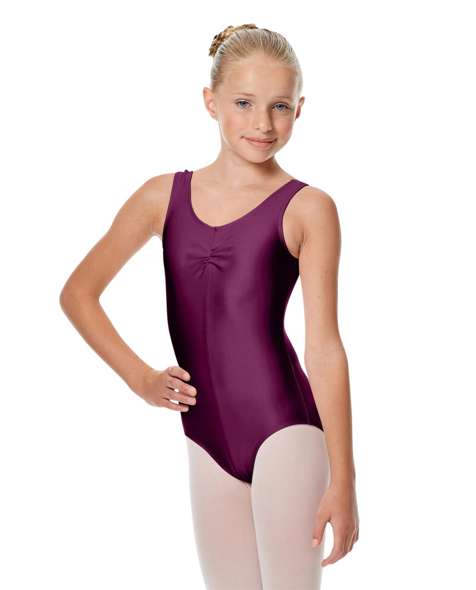 Girls Shiny Pinch Front Ballet Leotard Eleonore EGG