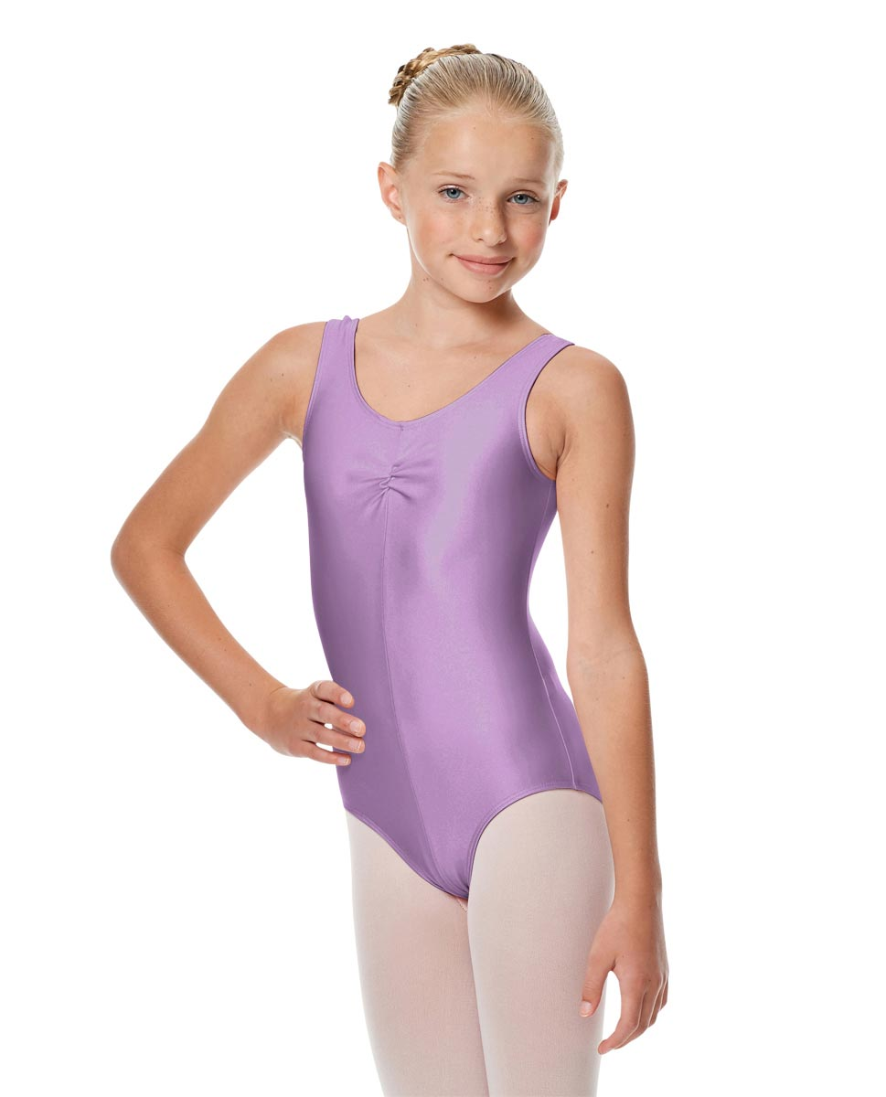 Girls Shiny Pinch Front Tank Ballet Leotard Eleonore LIL