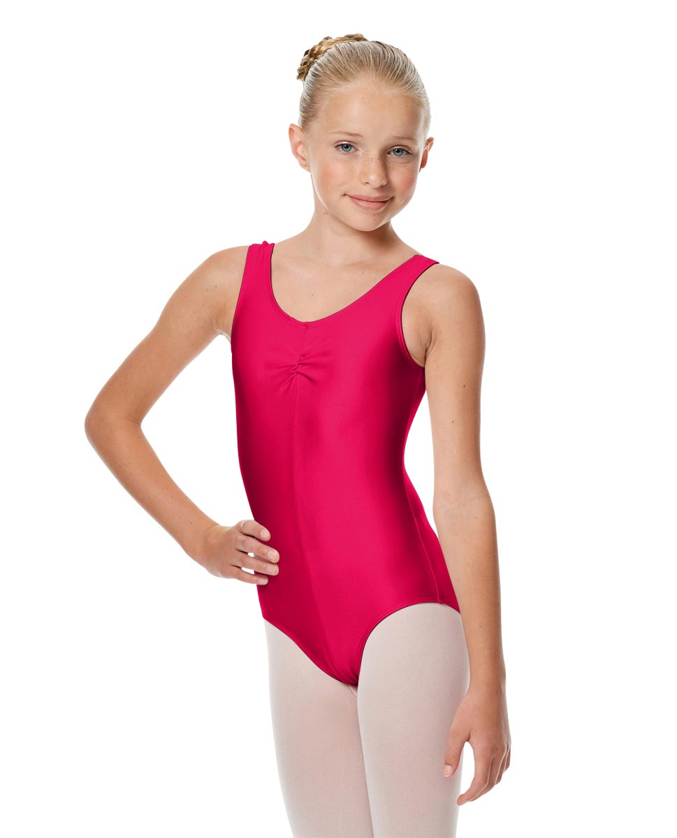 Girls Shiny Pinch Front Ballet Leotard Eleonore RAS