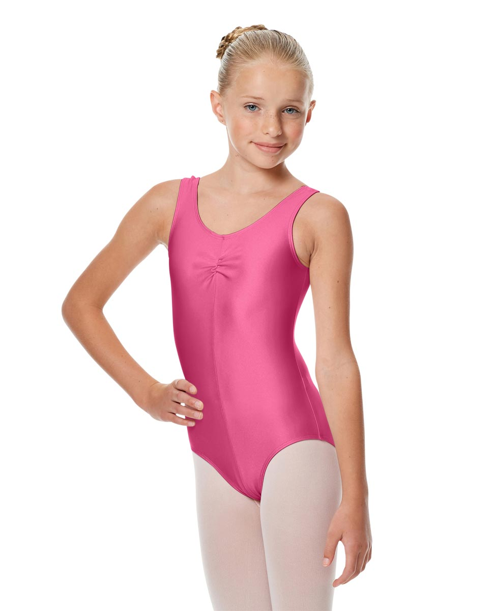 Girls Shiny Pinch Front Ballet Leotard Eleonore ROS