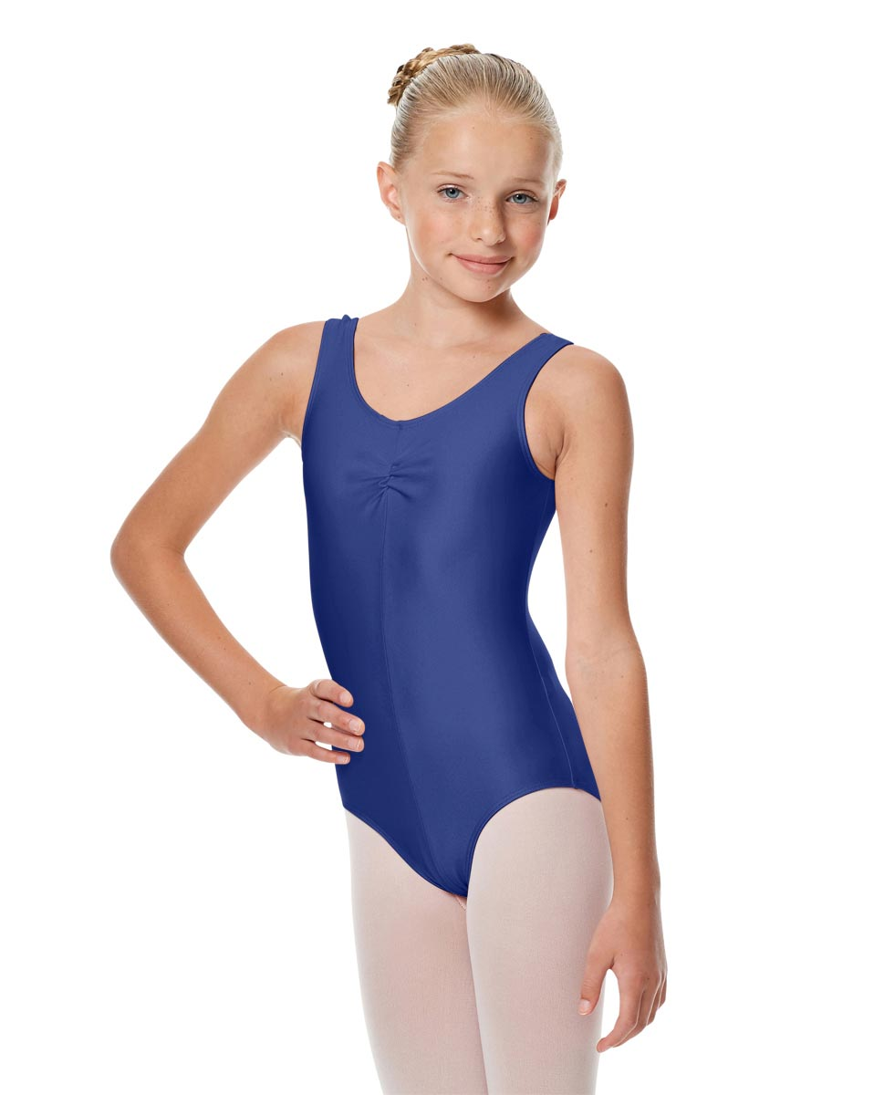 Girls Shiny Pinch Front Ballet Leotard Eleonore ROY