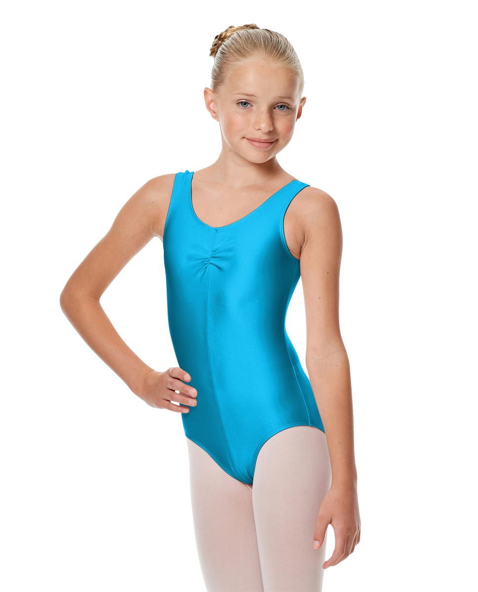 Girls Shiny Pinch Front Ballet Leotard Eleonore TUR