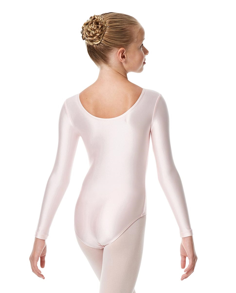 Child Shiny Long Sleeve Pinch Front Ballet Leotard Giselle back-child-shiny-long-sleeve-pinch-front-ballet-leotard-giselle