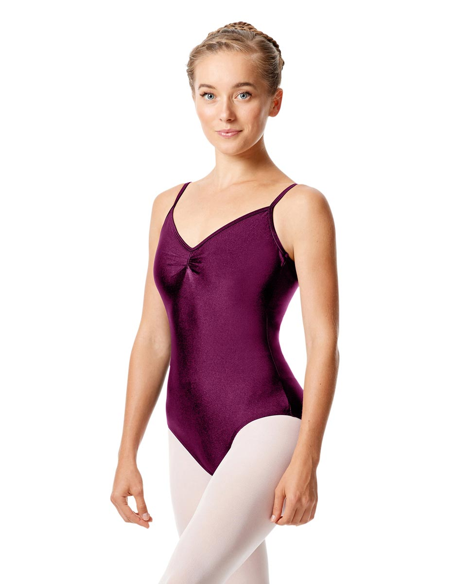 Womens Shiny Pinch Front Camisole Dance Leotard Agnes EGG