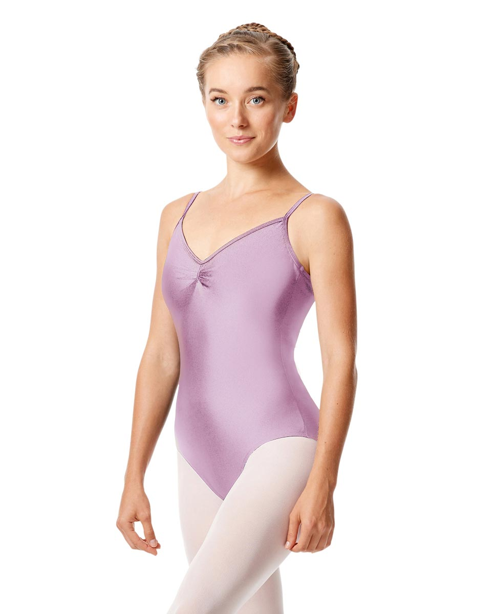 Womens Shiny Pinch Front Camisole Dance Leotard Agnes LIL