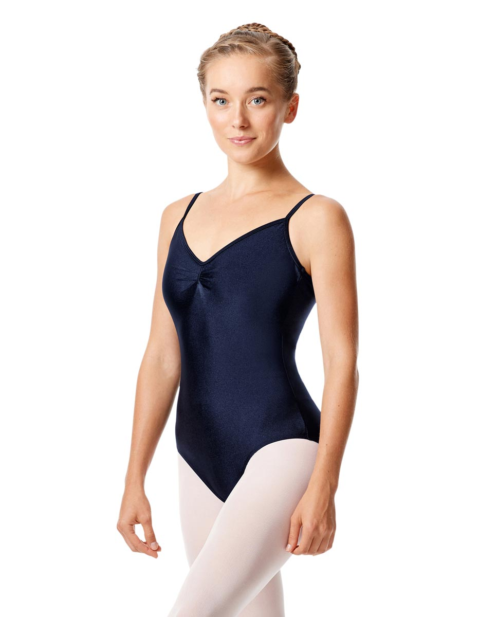 Womens Shiny Pinch Front Camisole Dance Leotard Agnes NAY