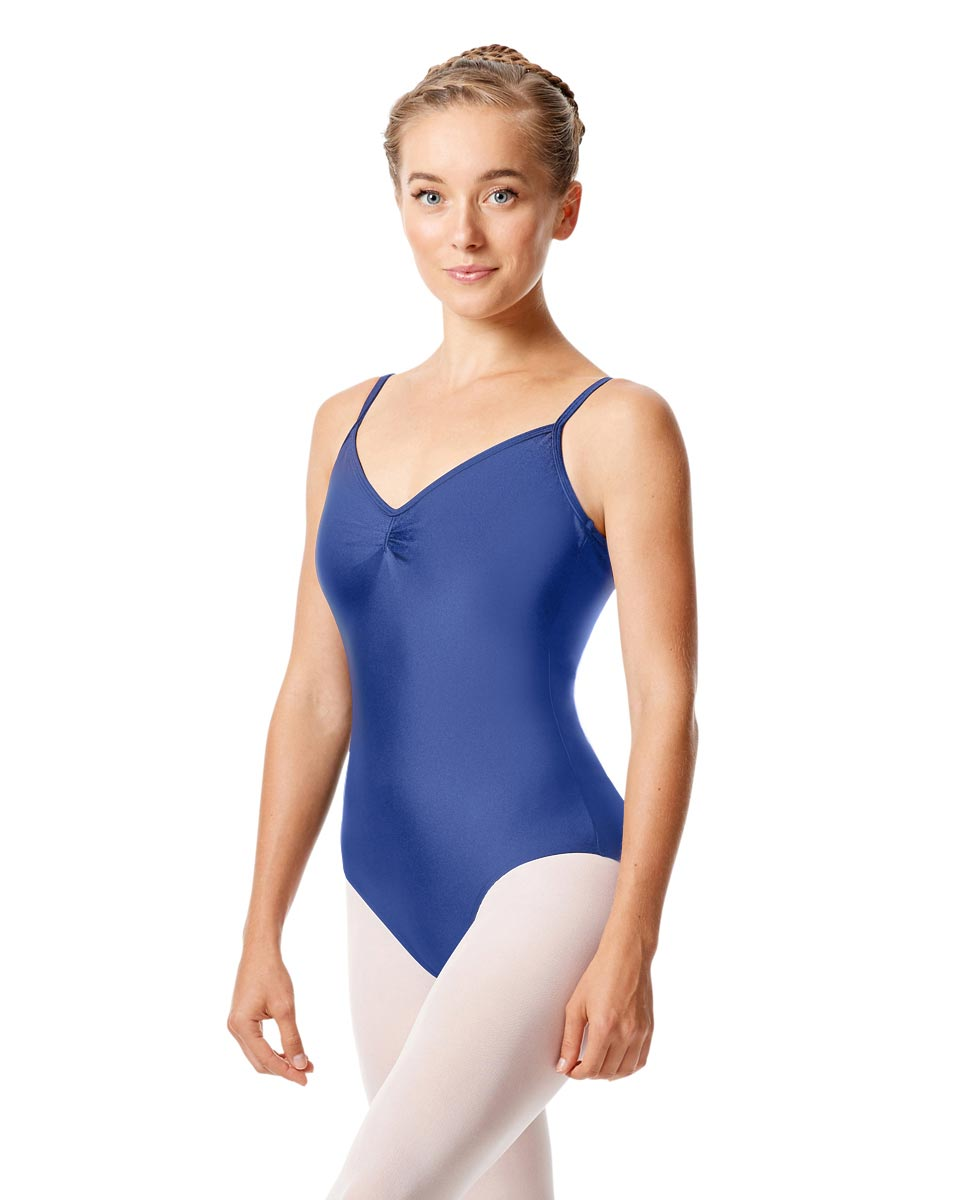 Womens Shiny Pinch Front Camisole Dance Leotard Agnes ROY