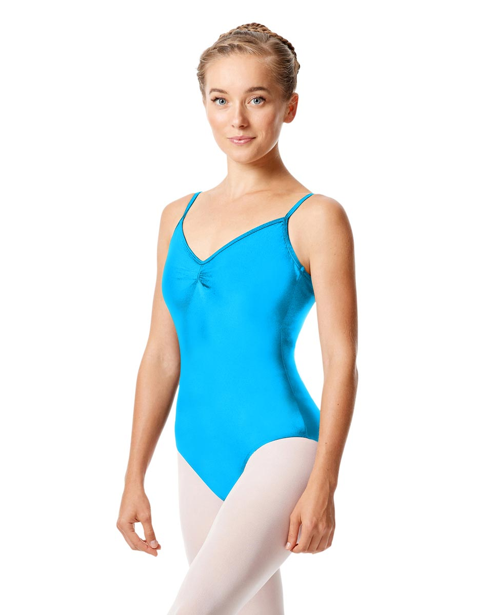 Womens Shiny Pinch Front Camisole Dance Leotard Agnes TUR