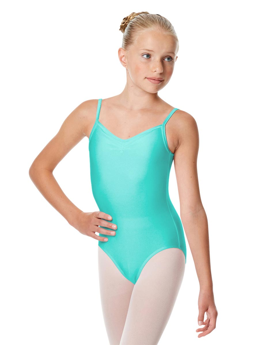 Child Shiny Pinch Front Camisole Dance Leotard Agnes ABLU