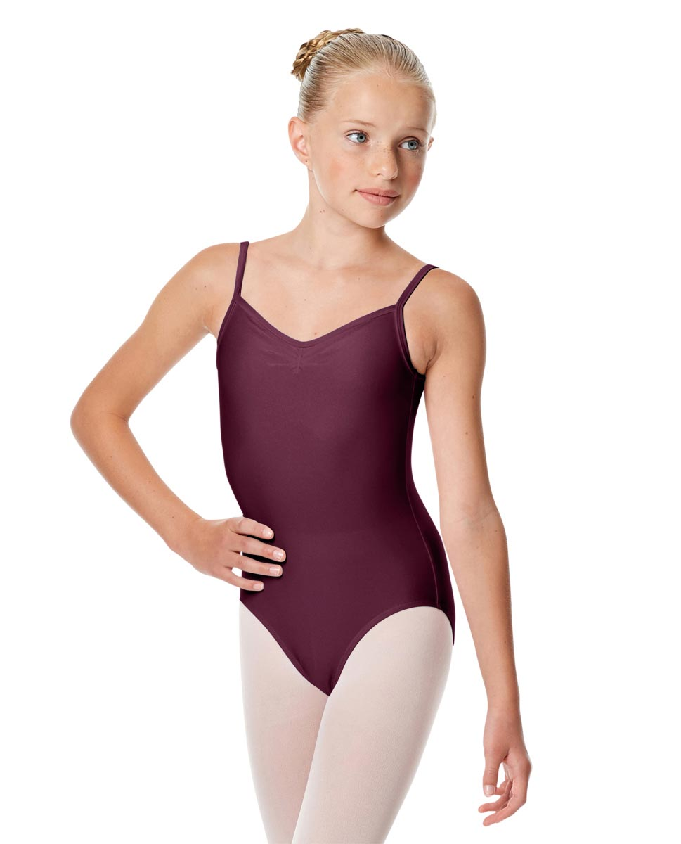 Child Shiny Pinch Front Camisole Dance Leotard Agnes EGG