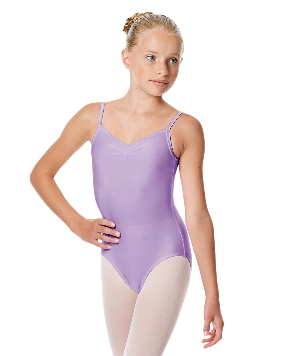 Child Shiny Pinch Front Camisole Dance Leotard Agnes LIL