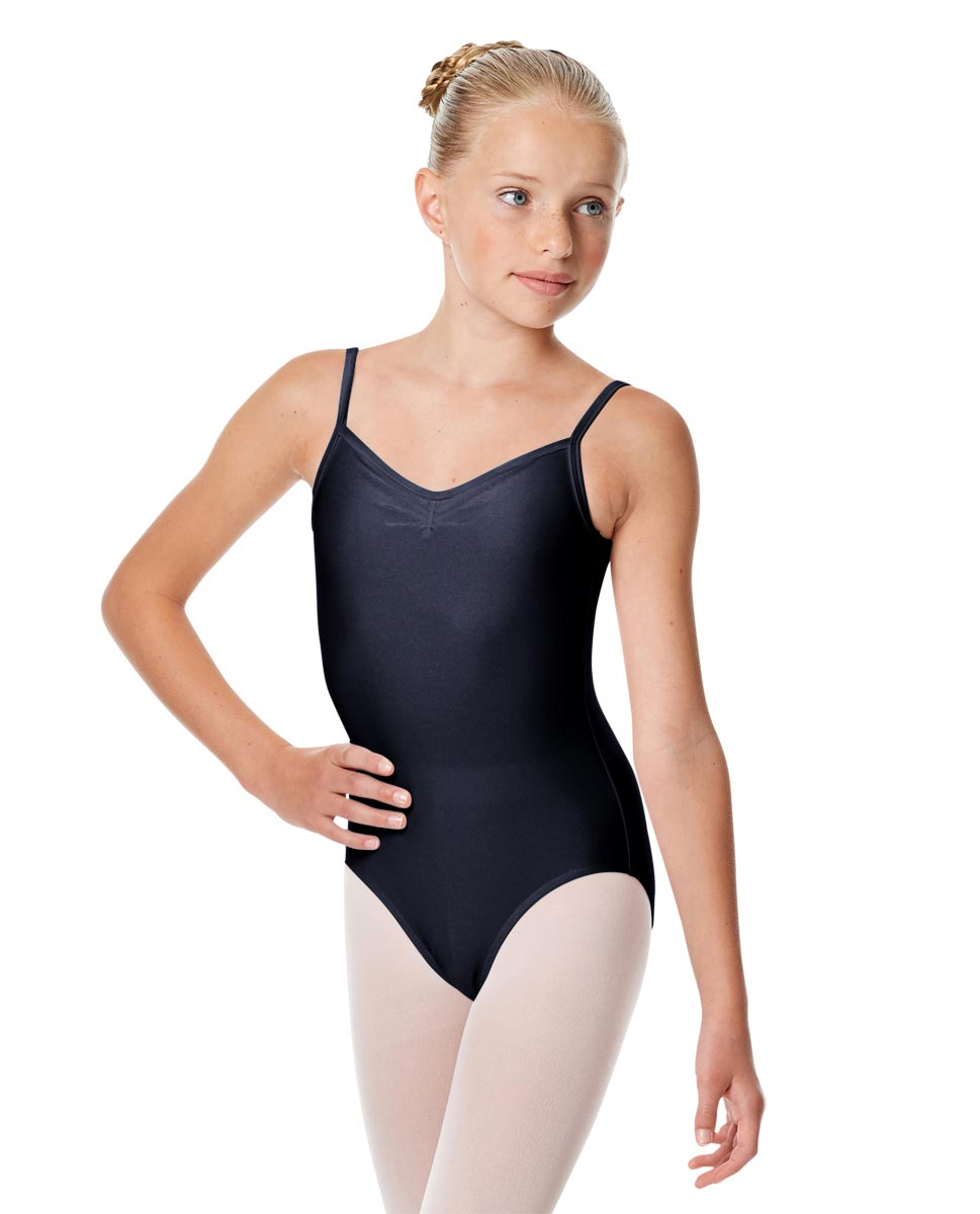 Child Shiny Pinch Front Camisole Dance Leotard Agnes NAY