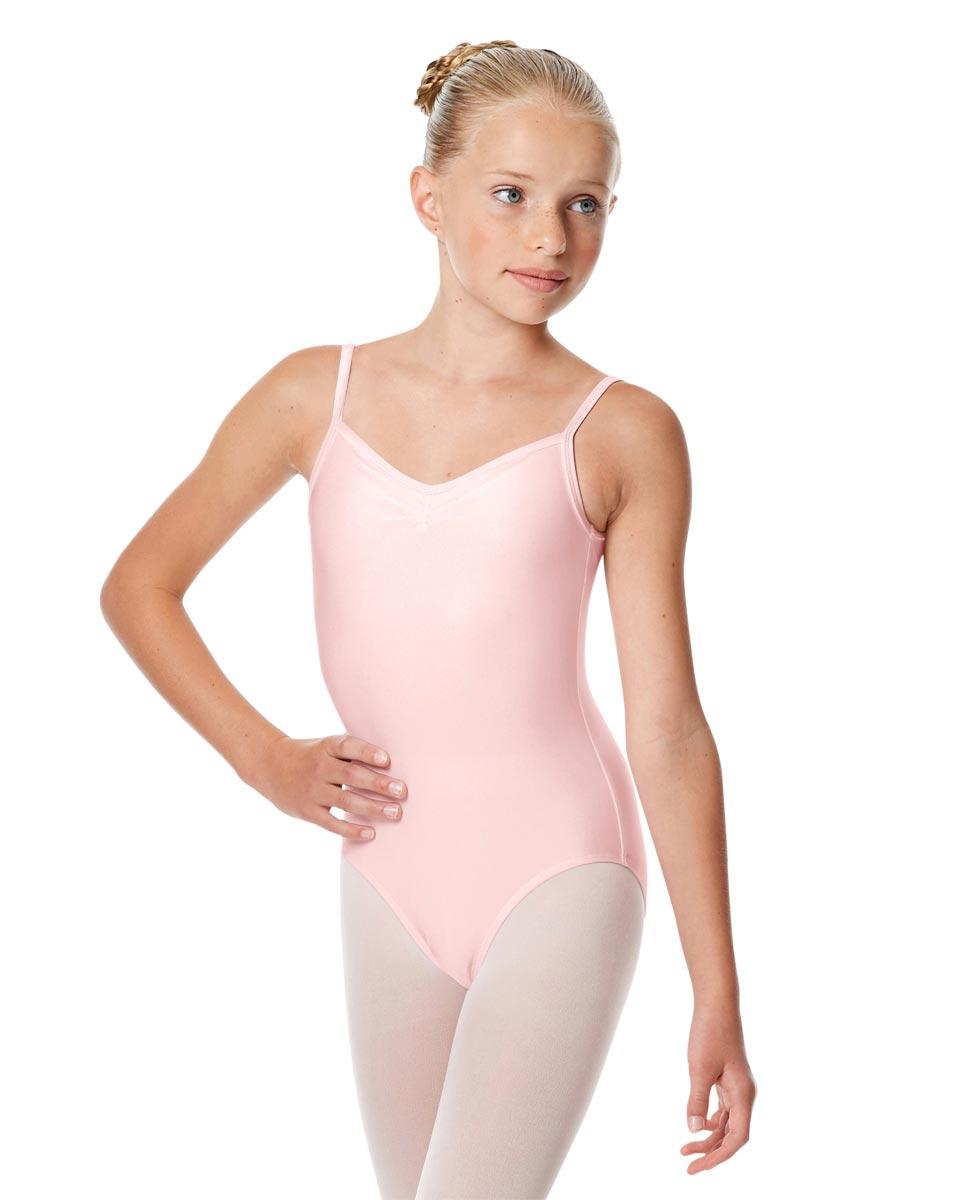 Child Shiny Pinch Front Camisole Dance Leotard Agnes PNK