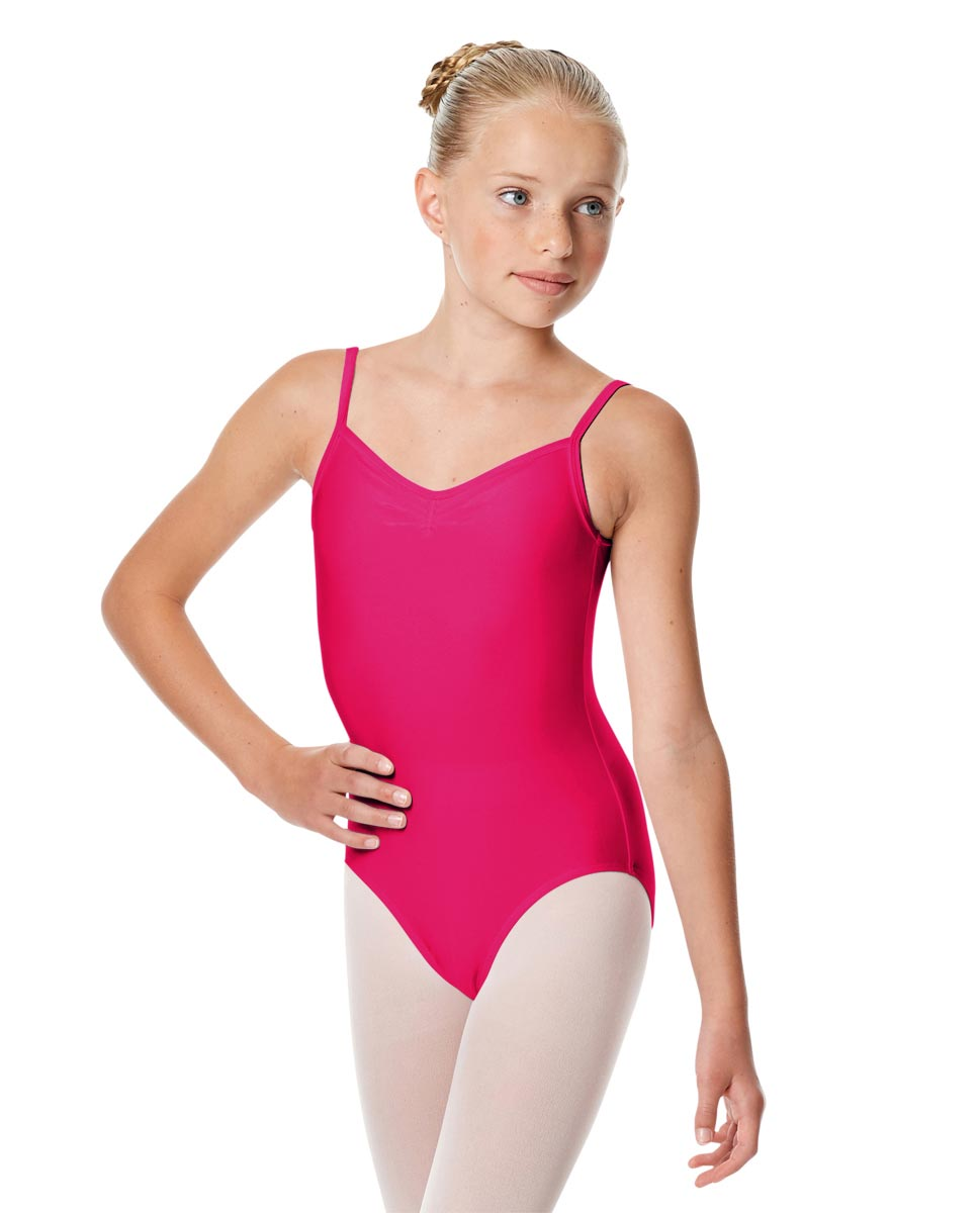 Child Shiny Pinch Front Camisole Dance Leotard Agnes RAS
