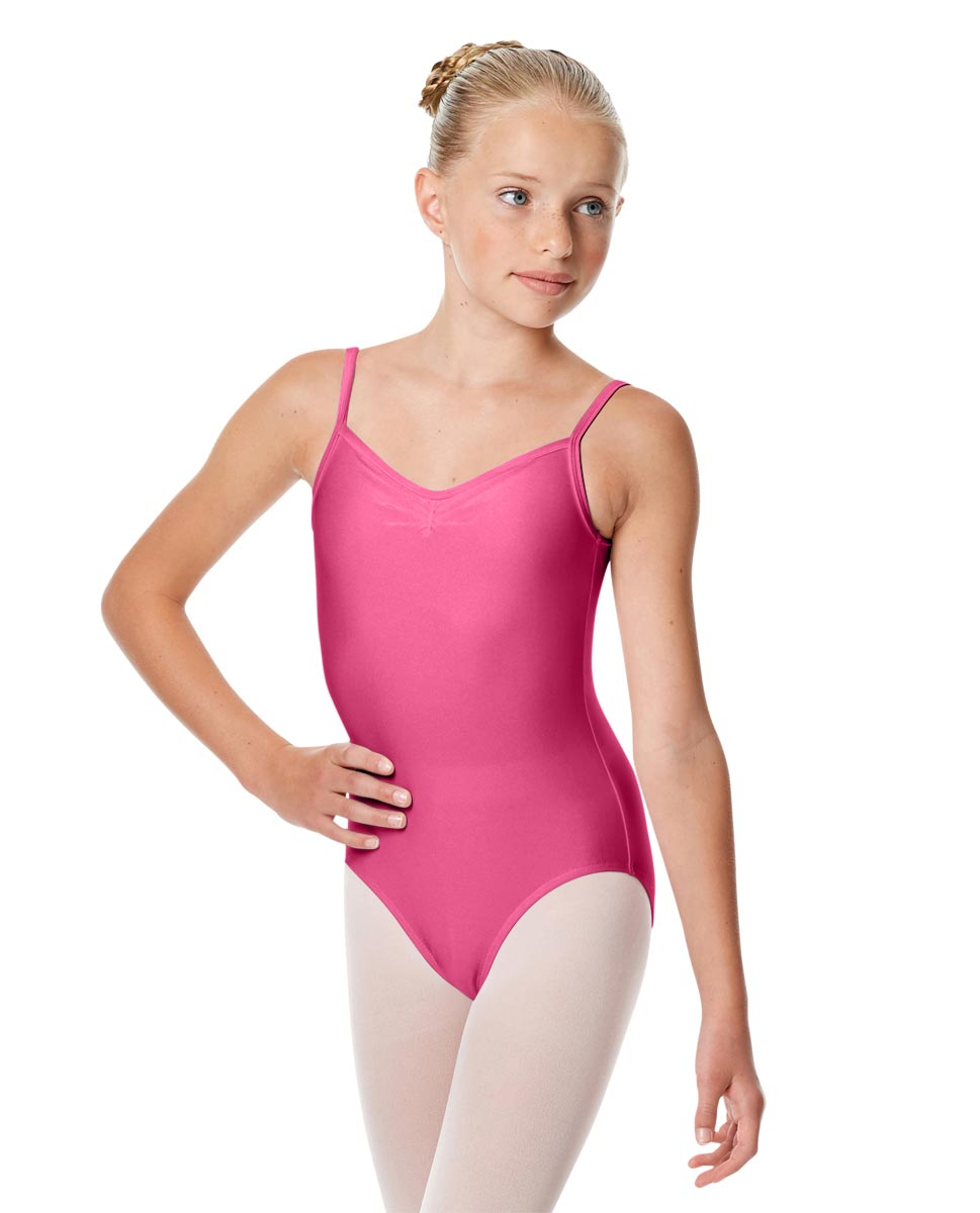 Child Shiny Pinch Front Camisole Dance Leotard Agnes ROS