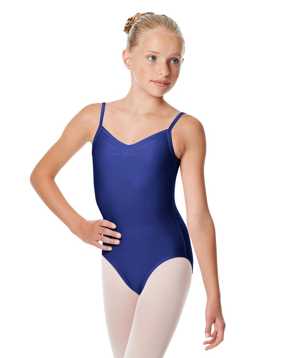 Child Shiny Pinch Front Camisole Dance Leotard Agnes ROY