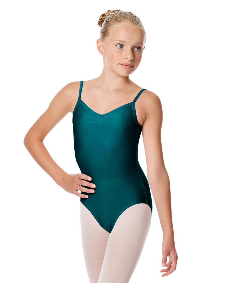Child Shiny Pinch Front Camisole Dance Leotard Agnes TEA