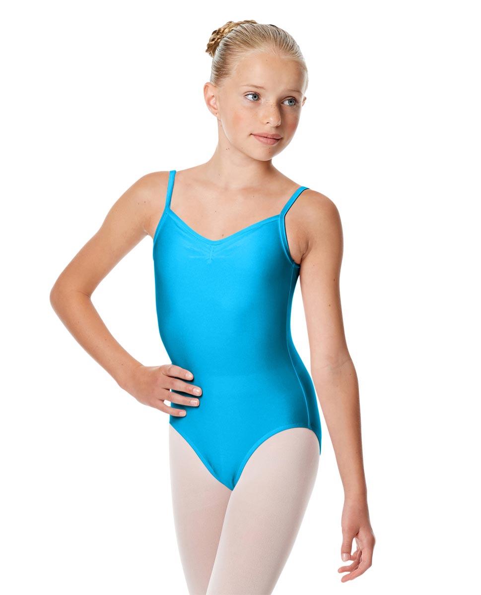 Child Shiny Pinch Front Camisole Dance Leotard Agnes TUR