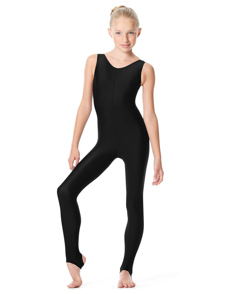 Girls Tank Stirrup Dance Unitard Matilde BLK