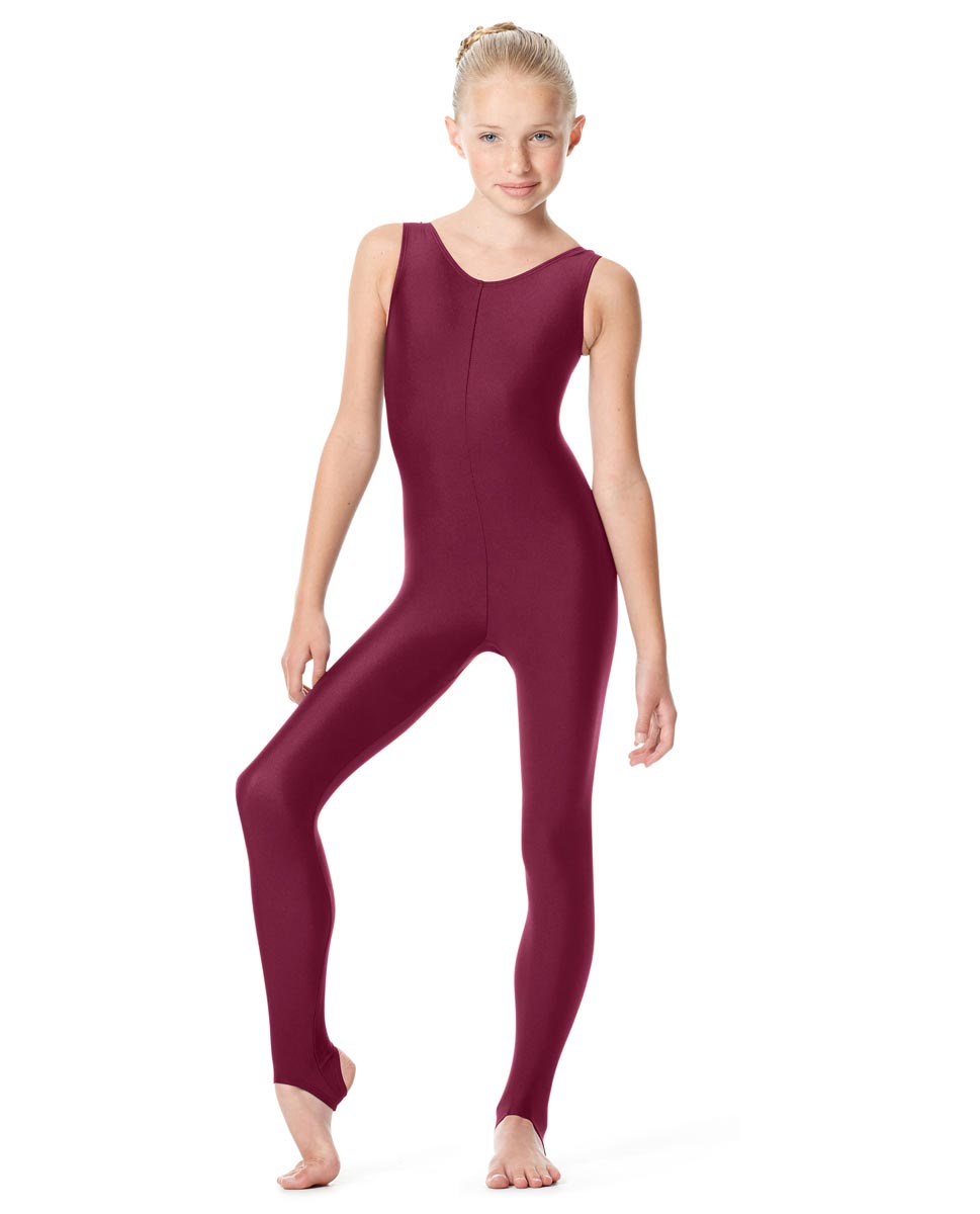 Girls Tank Stirrup Dance Unitard Matilde BUR
