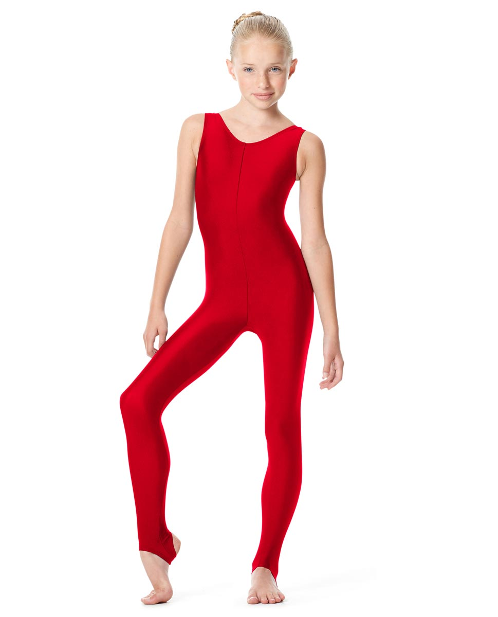 Girls Tank Stirrup Dance Unitard Matilde RED