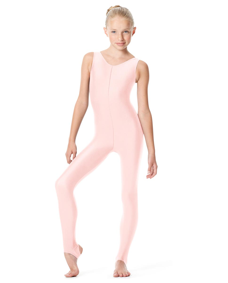 Girls Tank Stirrup Dance Unitard Matilde PNK