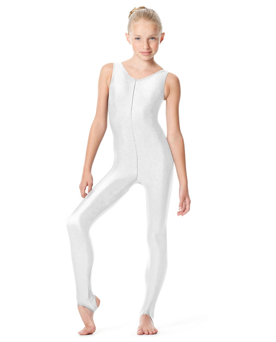 Girls Tank Stirrup Dance Unitard Matilde WHI