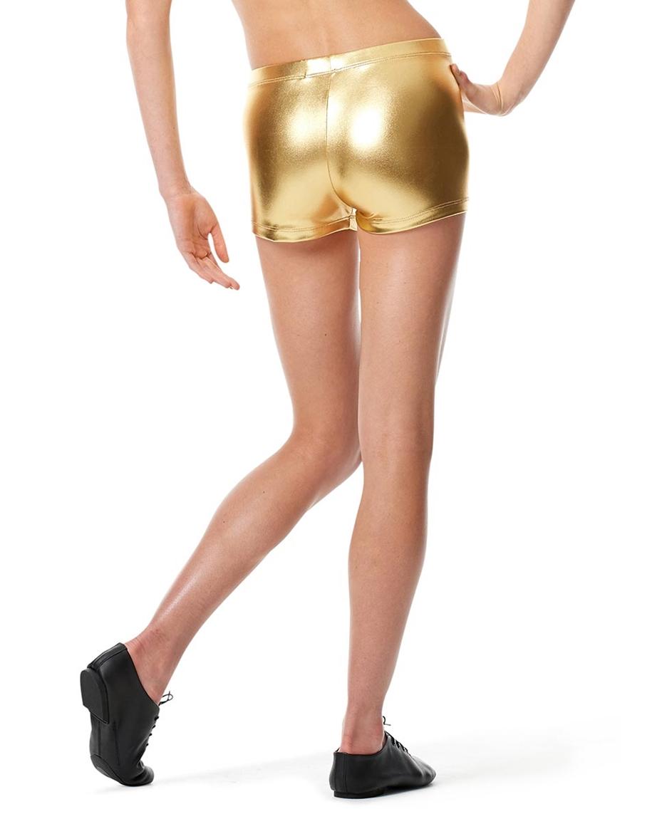 Womens Metallic Dance Shorts Janna back-womens-metallic-dance-shorts-janna