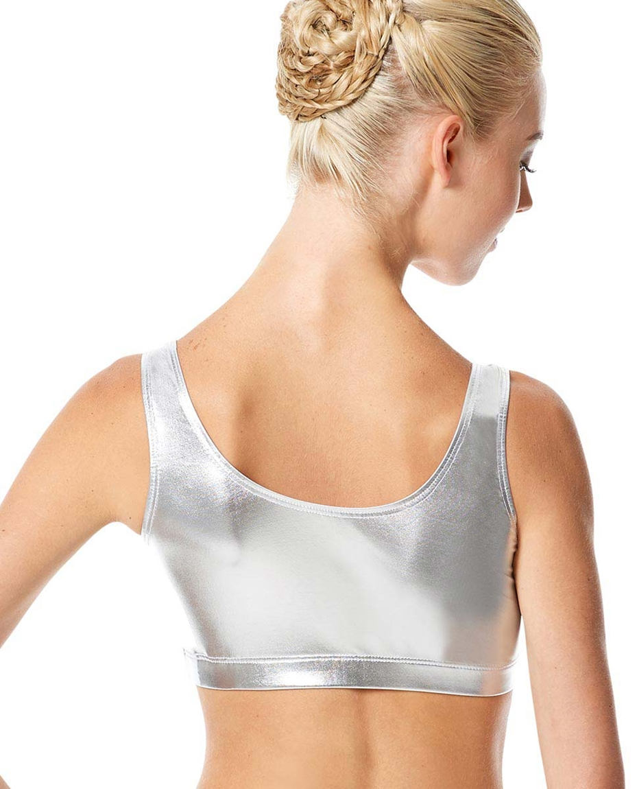 Adult Metallic Dance Tank Bra Roberta back-adult-metallic-dance-tank-bra-roberta