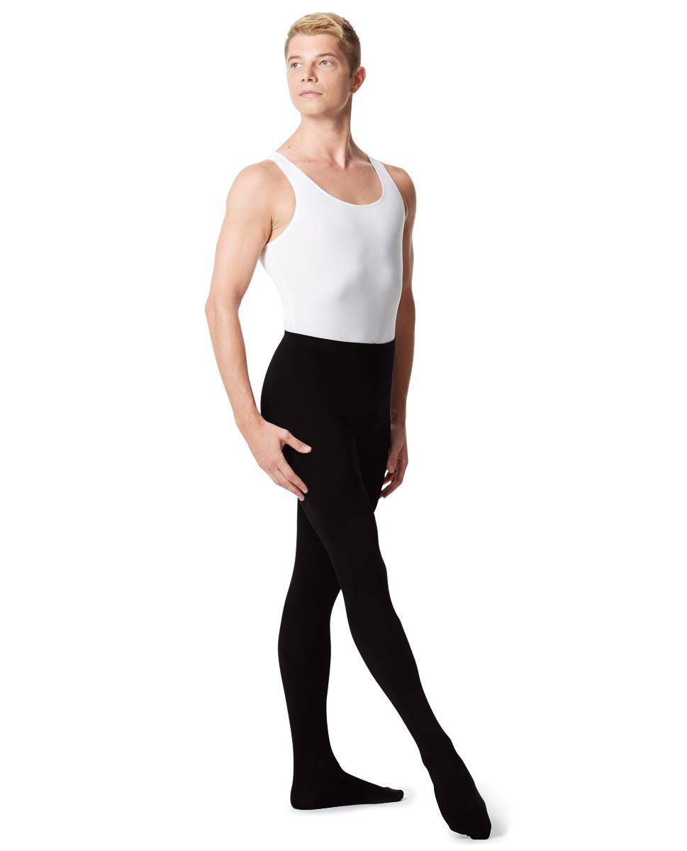 Mens High Waist Footed Dance Leggings Norbert BLK