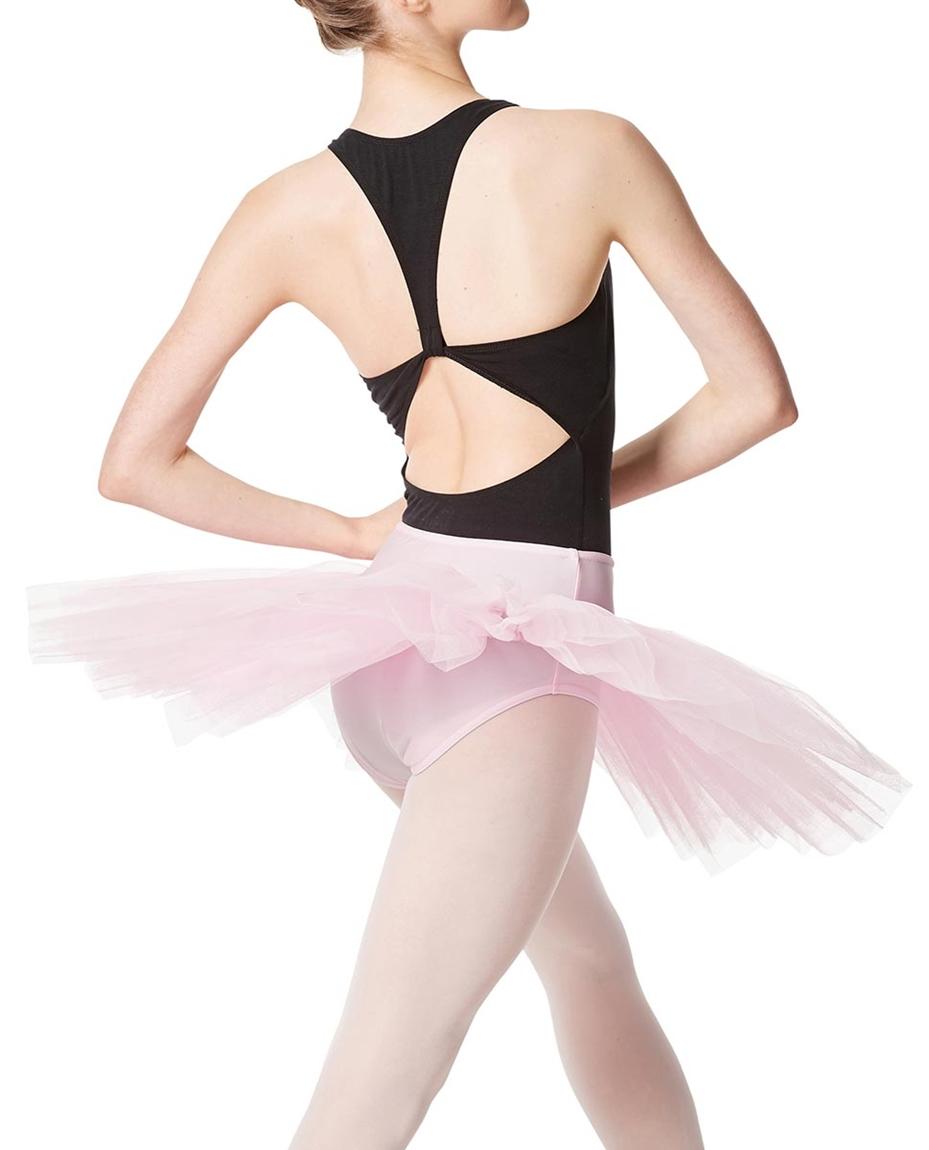 Adult Rehearsal Ballet 4 Layer Tutu Skirt BACK-adult-rehearsal-ballet-4-layer-tutu-skirt