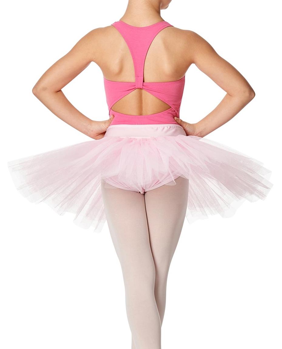 Girls Rehearsal Ballet 4 Layer Tutu Skirt BACK-girls-rehearsal-ballet-4-layer-tutu-skirt