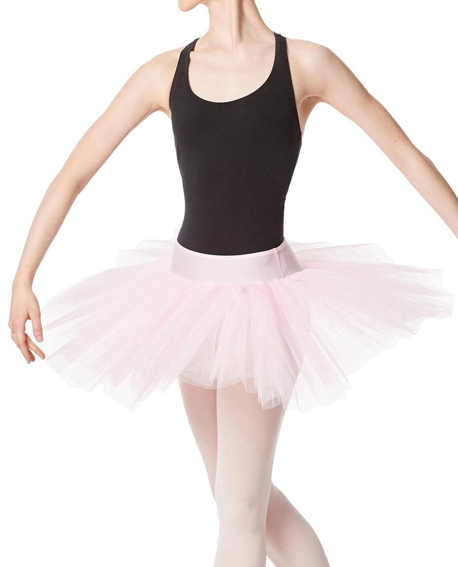 Adult Rehearsal Ballet 4 Layer Tutu Skirt PNK
