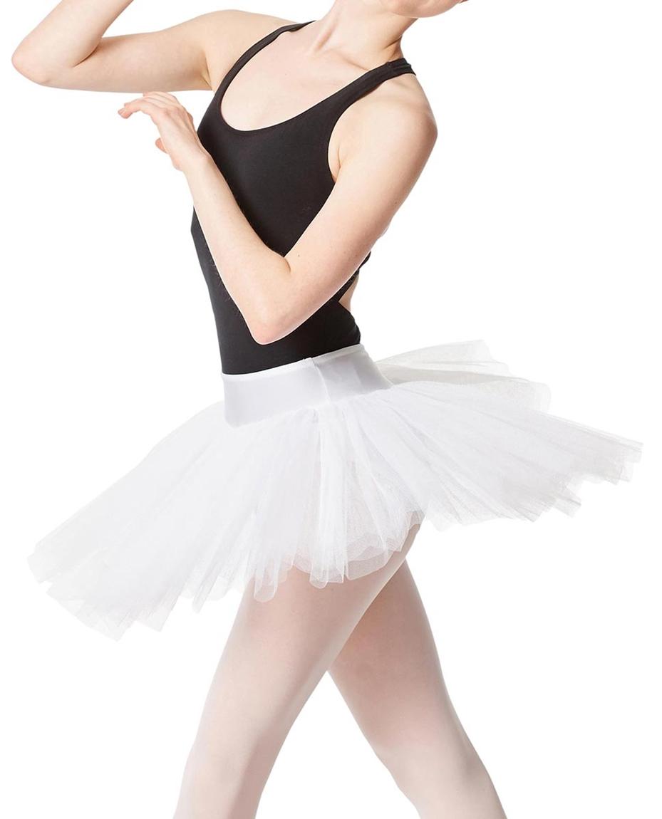 Adult Rehearsal Ballet 4 Layer Tutu Skirt WHI