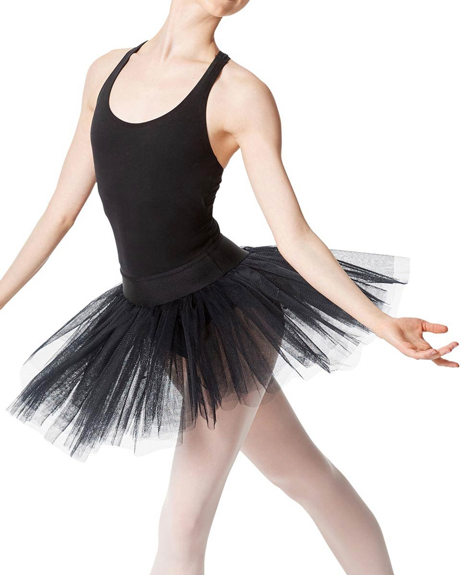 Adult Rehearsal Ballet 4 Layer Tutu Skirt BLK